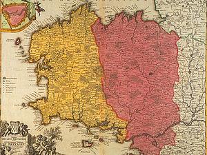 Carte du XVIIe siècle, en couleur