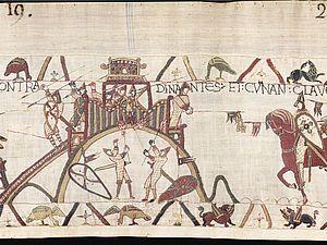 Détail de la Tapisserie de Bayeux - XIe siècle