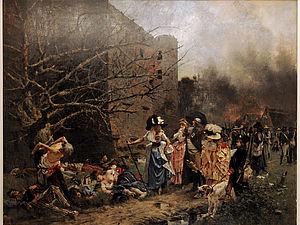 Massacre de Machecoul de François Flameng, 1884.